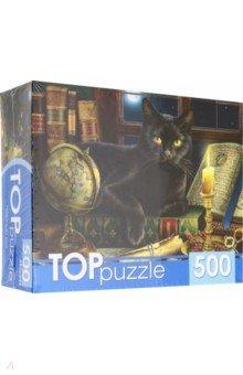 Купить TOPpuzzle-500 Черный кот (ХТП500-6815), Рыжий Кот, Пазлы (400-600 элементов)