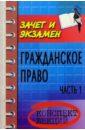 Павленко Валерия Александровна Гражданское право. Часть 1: Конспект лекций