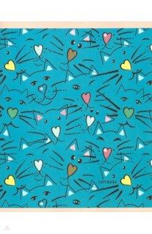 """Тетрадь """"Милые коты (графика)"""" (96 листов, А5, клетка) (ТКФ486040)"""