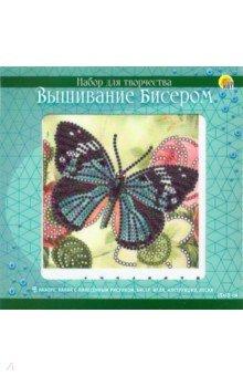 Купить Вышивка бисером 15x15см Красивая бабочка (BL055), Рыжий Кот