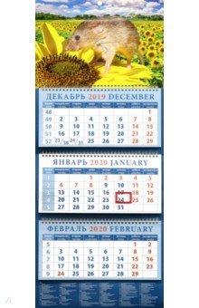 Zakazat.ru: Календарь 2020 квартальный Символ года. На подсолнухе (14014).