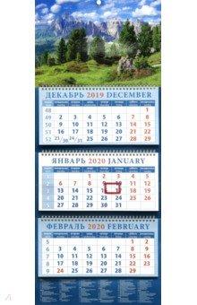 Zakazat.ru: Календарь 2020 квартальный Очарование гор (14035).