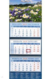 Zakazat.ru: Календарь 2020 квартальный Пейзаж с ромашками (14061).