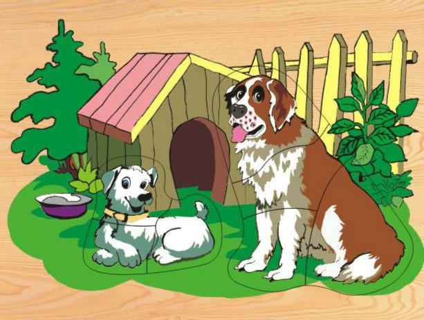 Картинка собака с щенком для детей, смешные картинки