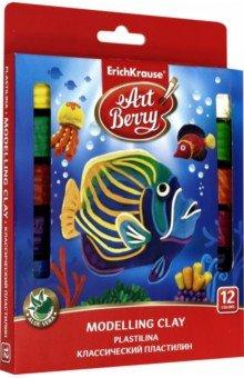 Купить Пластилин классический ArtBerry с Алоэ Вера (12 цветов) (46159), Erich Krause, Пластилин более 10 цветов