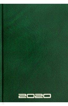 Ежедневник датированный на 2020 год (160 листов, А5, зеленый) (50688)