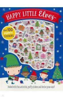 Купить Happy Little Elves Puffy Sticker Activity book, Make Believe Ideas, Книги для детского досуга на английском языке