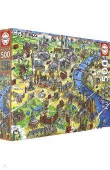 Купить 18451 Пазл 500 Карта Лондона, Educa, Пазлы (400-600 элементов)