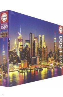 Купить Пазл 1500. Манхэттен ночью (18466), Educa, Пазлы (1500 элементов)