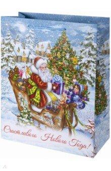 Zakazat.ru: Пакет подарочный бумажный Рождественские сани (40.6х48.9х19 см) (80022).