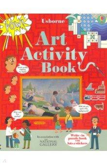 Купить Art Activity Book, Usborne, Книги для детского досуга на английском языке