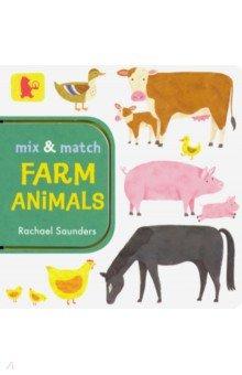 Купить Mix and Match: Farm Animals, Walker Books, Первые книги малыша на английском языке
