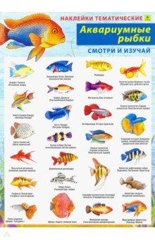 Купить Аквариумные рыбки. Наклейки тематические, РУЗ Ко, Наклейки детские