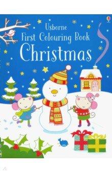 Купить First Colouring Book. Christmas, Usborne, Книги для детского досуга на английском языке