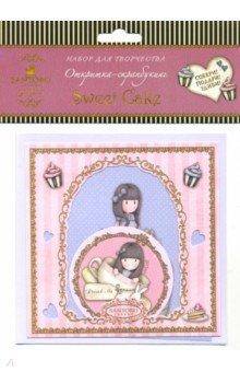 Купить Santoro. Открытка-скрапбукинг. Sweet Cake (04665), Оригами, Скрапбук