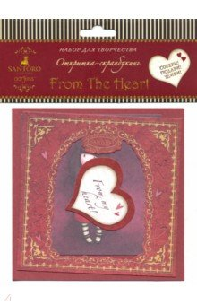 Купить Santoro. Открытка-скрапбук. From The Heart (04667), Оригами, Скрапбук