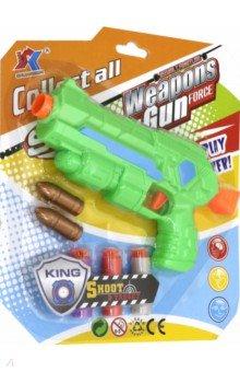 Купить Бластер, с 2 мягкими пулями и 3 снаряд на присосках, Junfa, Игровое оружие