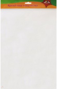 Купить Фоамиран (50х70 см, 0, 7 мм, белый) (С2926-05), АппликА, Сопутствующие товары для детского творчества