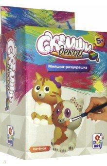 Купить Набор для детского творчества Котёнок (T15684), 1TOY, Раскрашиваем и декорируем объемные фигуры