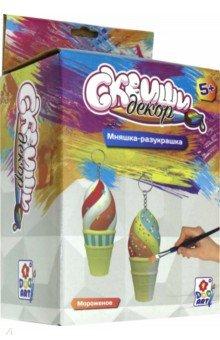 Купить Набор для детского творчества Мороженое (Т15686), 1TOY, Раскрашиваем и декорируем объемные фигуры
