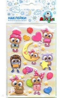 Купить Зефирные наклейки Совы 2 (MMS068), Липуня, Наклейки детские