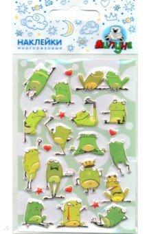 Купить Зефирные наклейки Лягушки 2 (MMS069), Липуня, Наклейки детские