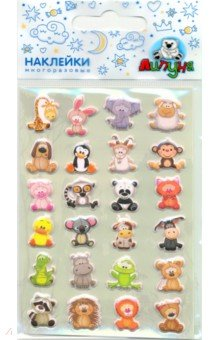 Купить Зефирные наклейки Зоопарк (MMS072), Липуня, Наклейки детские