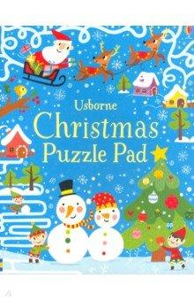 Купить Christmas Puzzles Pad, Usborne, Книги для детского досуга на английском языке