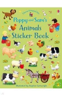 Купить Farmyard Tales Poppy and Sam's Animals Sticker Book, Usborne, Книги для детского досуга на английском языке