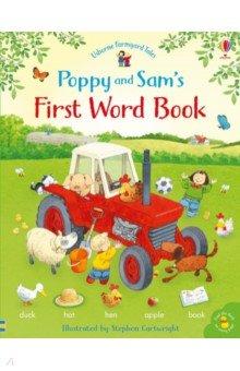 Купить Poppy and Sam's First Word Book, Usborne, Первые книги малыша на английском языке
