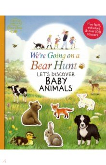 Купить We're Going on a Bear Hunt: Let's Discover Baby Animals, Walker Books, Первые книги малыша на английском языке