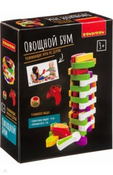 Купить Игра-баланс «Овощной бум», башня из овощей (ВВ4179), Bondibon, Строим башню