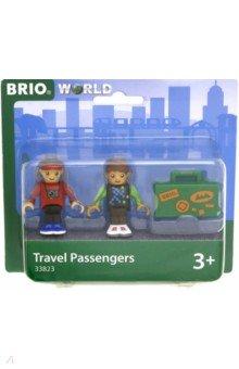 Купить Набор из 2-х фигурок пассажиров и чемодана (33823), BRIO, Конструкторы из пластмассы и мягкого пластика