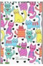 Обложка Блокнот 48л,А5,греб,Цветные кошки,С0712-60