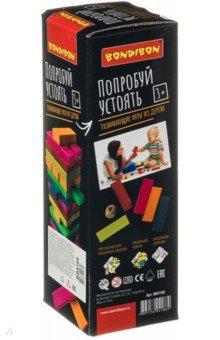 Купить Игра-баланс «Попробуй устоять», цветная башня (ВВ4166), Bondibon, Строим башню