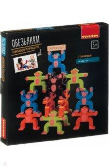 Купить Игра развивающая. Игра-балансир «Обезьянки» (ВВ4185), Bondibon, Строим башню