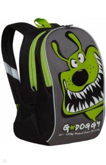 Купить Рюкзак детский (черный - салатовый) (RK-079-3), Grizzly, Ранцы и рюкзаки для начальной школы