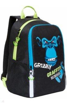 Купить Рюкзак школьный (черный) (RB-051-6), Grizzly, Рюкзаки школьные