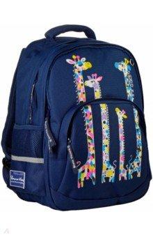 Купить Рюкзак синий Жирафы. Настроение (12-002-132/02), Bruno Visconti, Рюкзаки школьные