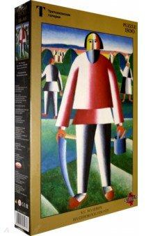 Купить Puzzle-1500 Малевич К.С. На сенокосе (150274), Стелла+, Пазлы (1500 элементов)