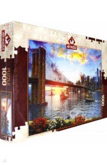 Купить Пазл 1000 деталей Закат над Нью-Йорком (5185), Art Puzzle, Пазлы (1000 элементов)