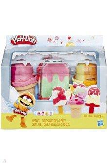 Купить Набор PLAY-DOH Холодильник к с мороженым (E6642EU4), Hasbro, Наборы для лепки с игровыми элементами