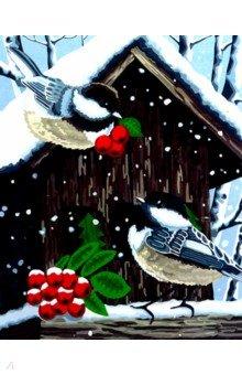 Купить Рисование по номерам Воробушки , 40х50 см (H057), Русская живопись, Создаем и раскрашиваем картину