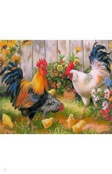 Купить Картина для раскрашивания по номерам (по дереву, 30х40 см) ПТИЦЫ (M-11139), MAZARI, Создаем и раскрашиваем картину