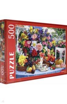 Купить Puzzle-500 Летний натюрморт в саду (Ф500-2179), Рыжий Кот, Пазлы (400-600 элементов)
