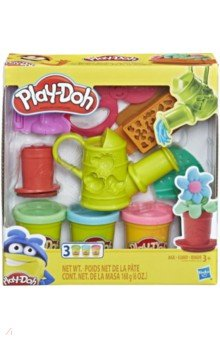 Купить Набор игровой Play-Doh Садовые инструменты (E3564), Hasbro, Наборы для лепки с игровыми элементами