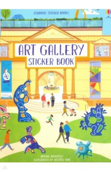 Купить Art Gallery Sticker Book, Usborne, Книги для детского досуга на английском языке