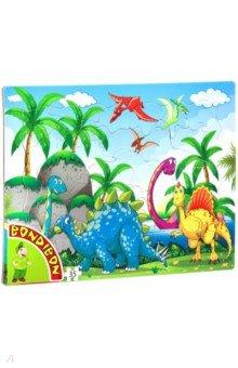 Купить Пазл (35 деталей) «Динозавры» (ВВ4669), Bondibon, Пазлы (12-50 элементов)