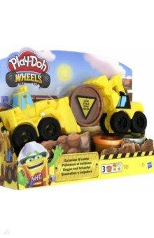 Купить Набор PLAY-DOH Wheels. Экскаватор (E4294EU4), Hasbro, Наборы для лепки с игровыми элементами