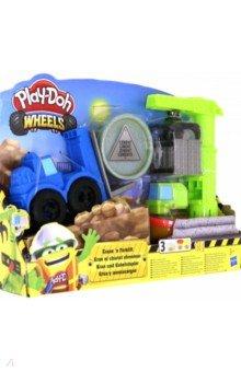 Купить Набор PLAY-DOH Wheels. Кран-Погрузчик (E5400EU4), Hasbro, Наборы для лепки с игровыми элементами